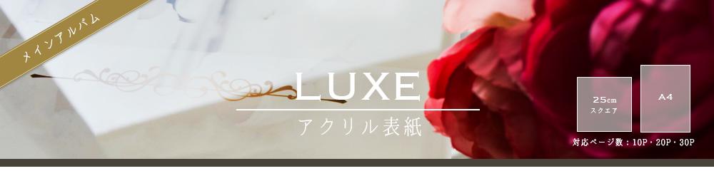 ウエディングアルバム・結婚式アルバムとしておススメなLUXE(A4・スクエアサイズの両面アクリルアルバム)